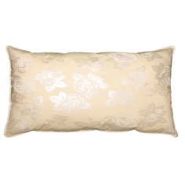 Perna Pernador cu pana de gasca 80x100 cm crem cu trandafiri argintii